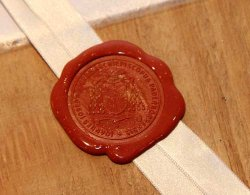 The Archbishop's seal was affixed to the box containing the results of the Diocesan Informative Process.